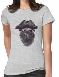PIRATE the dog  Womens Fitted T-Shirt