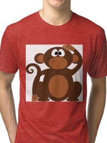 Cute Monkey Tri-blend T-Shirt