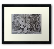 Brotherhood of Lions Framed Print