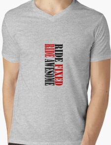 RIDE FIXED, RIDE AWESOME Mens V-Neck T-Shirt