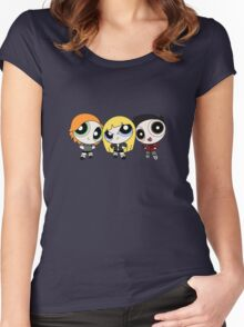 Buffy the Vampire Slayer Power Puff Women's Fitted Scoop T-Shirt