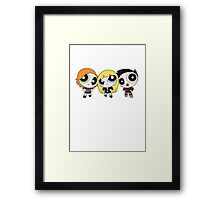 Buffy the Vampire Slayer Power Puff Framed Print