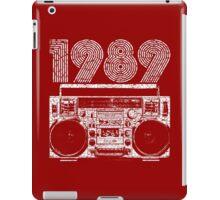 1989 Boombox iPad Case/Skin