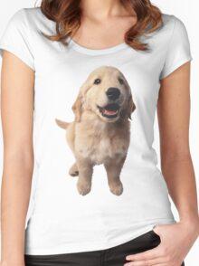 Puppy! Retriever! Women's Fitted Scoop T-Shirt