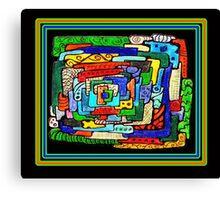 """Concentrification"" Transparent Overlay Canvas Print"