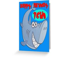 Blue Shark Sixteenth Birthday Greeting Card