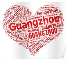 Guangzhou - Red Heart Poster