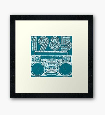 1985 Boombox Framed Print