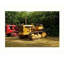Vintage Caterpillar Tractor 3 Art Print