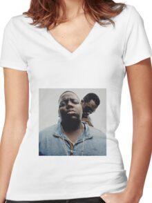 biggie Women's Fitted V-Neck T-Shirt