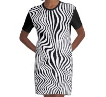 Wavy Stripes Graphic T-Shirt Dress