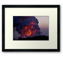 Kilauea Volcano at Kalapana 6 Framed Print
