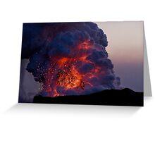 Kilauea Volcano at Kalapana 6 Greeting Card
