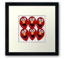 elmo ballon Framed Print