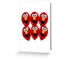 elmo ballon Greeting Card
