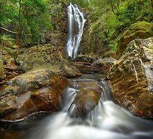 Mathinna falls, Tasmania. by Kevin McGennan