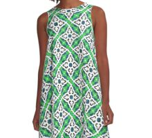 Green pattern (Burberry style) A-Line Dress