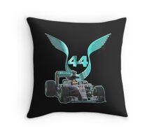Lewis Hamilton F1 with LH 2016 44 Throw Pillow