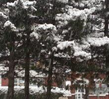 As the snow falls Sticker