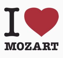 I ♥ MOZART One Piece - Short Sleeve