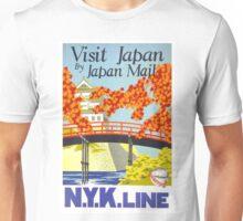 Vintage Visit Japan Travel Poster Unisex T-Shirt