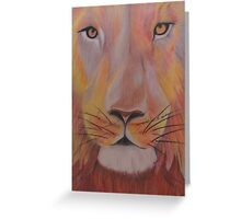 Lion of many colours Greeting Card