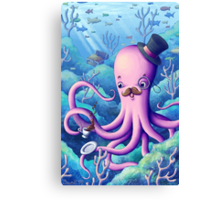 A Fancy Octopus Dilemma Canvas Print