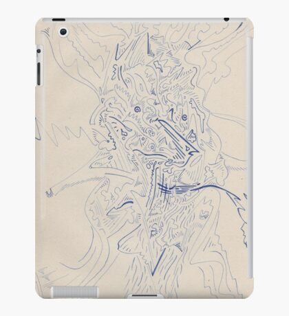 0608 - Abstract Portrait of a Pipe-Smoking Man iPad Case/Skin
