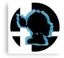 SUPER SMASH BROS: Pac-Man-Wii U  Canvas Print