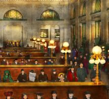 Train Station - Waiting in Grand Central Station 1904 Sticker