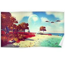 No Man's Sky - Trees and Skies Poster