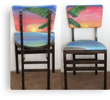 Folding Chairs IV Canvas Print