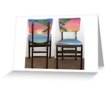 Folding Chairs IV Greeting Card
