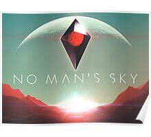 No Man's Sky - LOGO and CRYSTAL Poster
