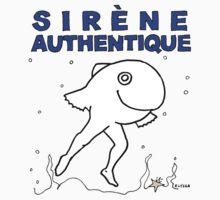FRENCH - FRANÇAIS - Sirene authentique, authentique sirène Kids Tee