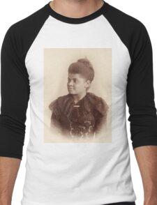 Potrait of Ida B. Wells by Mary Garrity (1893) Men's Baseball ¾ T-Shirt