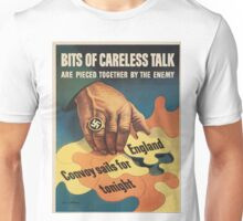 Vintage poster - Careless Talk Unisex T-Shirt