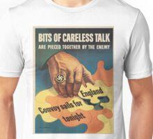Vintage poster - Careless Talk Unisex T-Shirt
