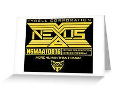 Blade Runner Nexus 6 Greeting Card