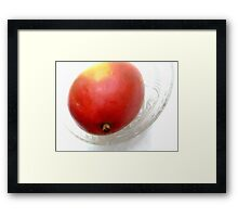 Mango on a Glass Dish Framed Print