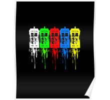 Colored Tardis Poster