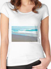 Aqua Women's Fitted Scoop T-Shirt
