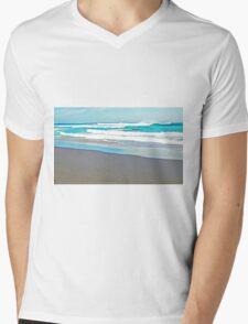 Aqua Mens V-Neck T-Shirt