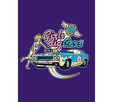 Girls Dig Cars Photographic Print