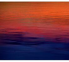 Ocean Sunset, orange, red, purple, black Photographic Print