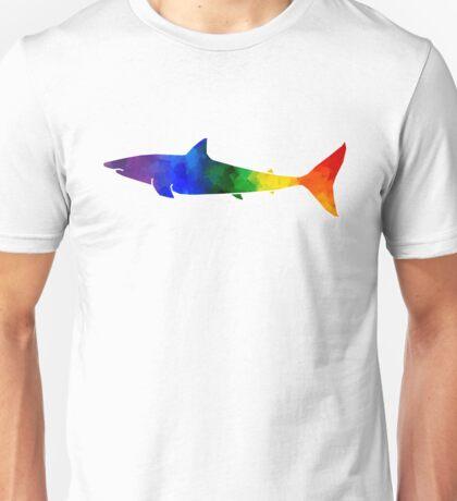 Rainbow Great White Shark Unisex T-Shirt