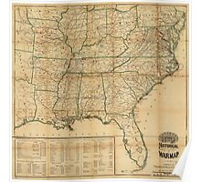 The Historical Civil War Map (1862) Poster