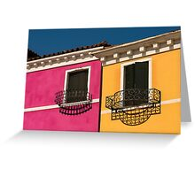 Colours of Burano Italy Greeting Card
