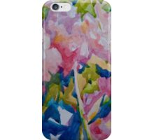 Peony blue iPhone Case/Skin