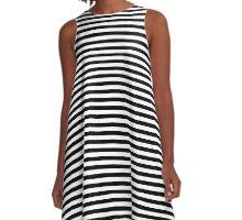 Stripes  A-Line Dress